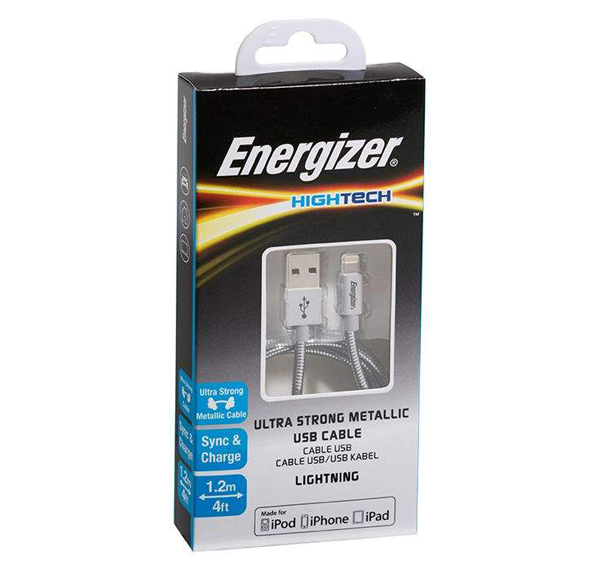 کابل تبدیل USB به لایتنینگ انرجایزر مدل C14UBLIGSL4